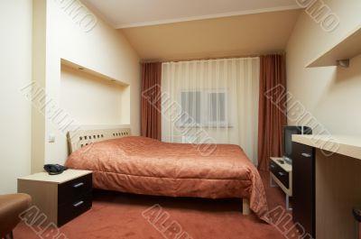 bedroom in red tones