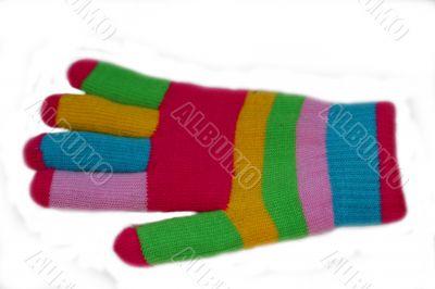 Multi-coloured glove