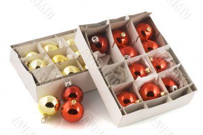 boxes christmas balls