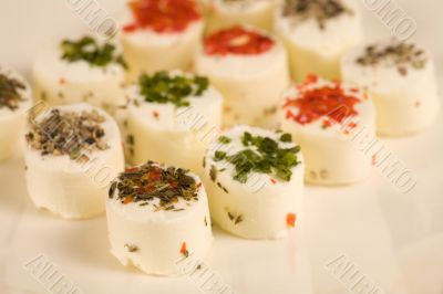 Small creamcheese cups in party size