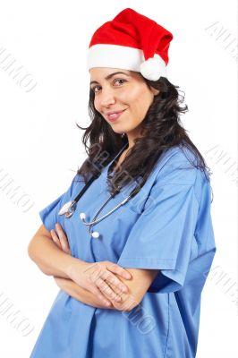 Female doctor christmas