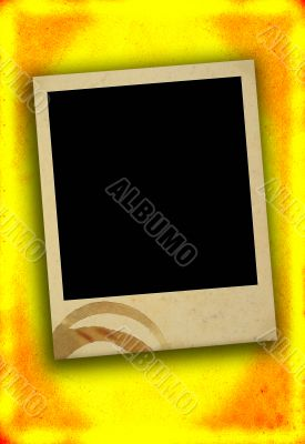 blank photo frame with stain