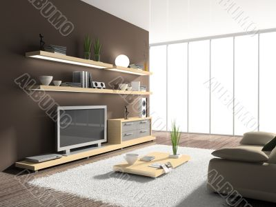 Interior of modern drawing-room. You can add different backgroun