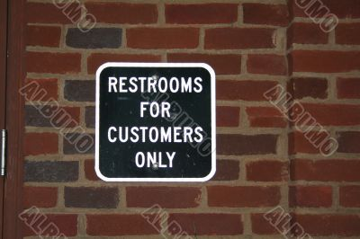 Customers Only Sign