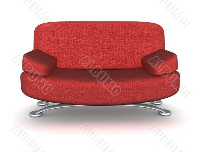 Soft sofa for rest. 3D image.