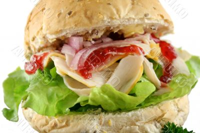 Turkey And Lettuce Roll 1