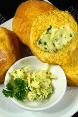 Pumkin Scones With Herb Butter