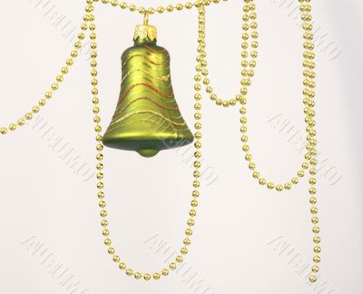 green christmas and new year bell