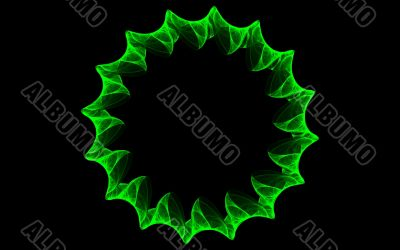 Green flame wreath