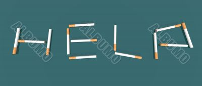 help made with cigarettes