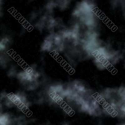 cloudy and starry night