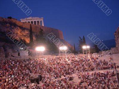 Herodes Atticus theater with Acropolis
