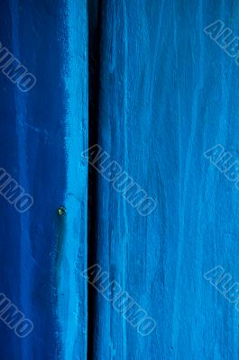 Blu wooden surface