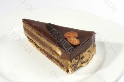 almond cake with chocolate