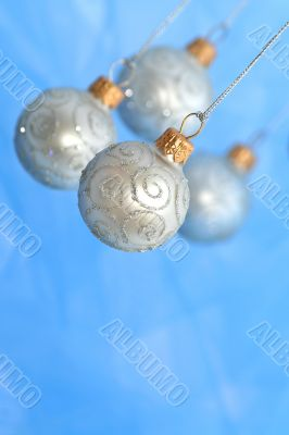 Christmas Ornaments / Balls / Selective focus / with copy space