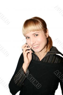 woman is calling by phone