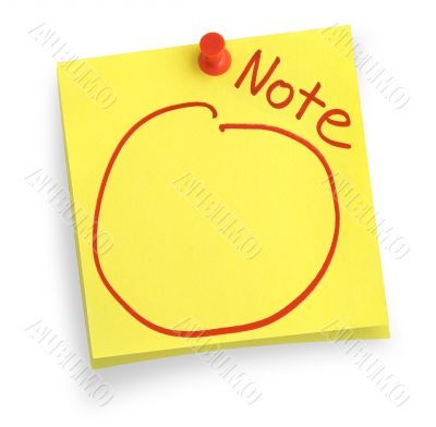 two adhesive notes