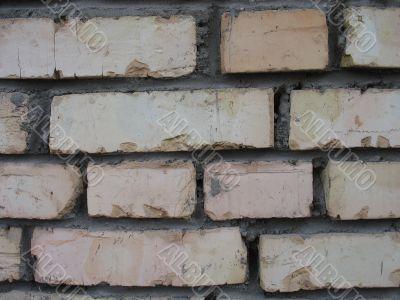 The laid bricks stored