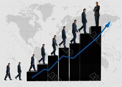 business statistics - black graph