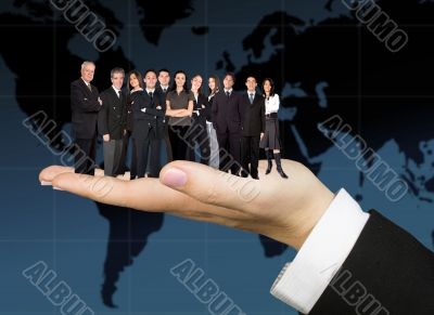 business team worldwide
