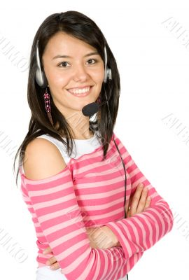 beautiful customer services girl