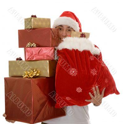 lots of christmas gifts by santa