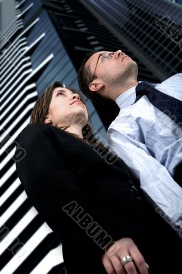 business partners in a corporate environment
