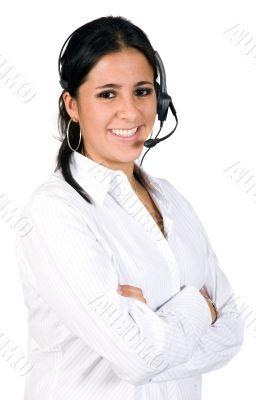 beautiful customer services woman