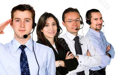business customer service team