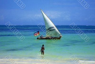 African Sail Boat