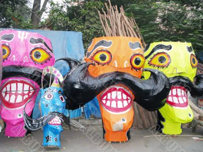 Ravana preparation on Dussehra