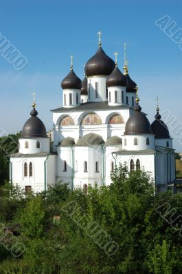 The cathedral in citadel of Dmitrov town