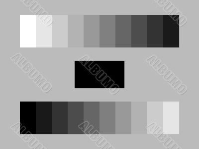 grey calibration test bars