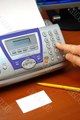fax and business card