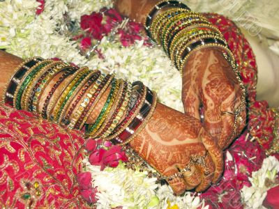 Bridal makeup in Indian Marriage