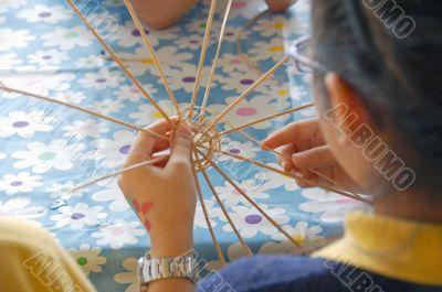 Child Learning Handicrafts