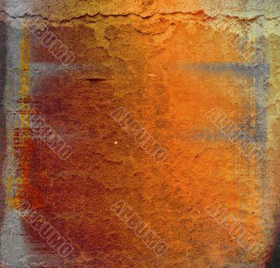 Detailed textured grunge background/frame