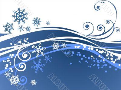 blue ornate background