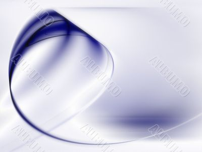 Fractal Abstract Background - Blue curling
