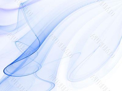 Fractal Abstact Background - Rippling blue