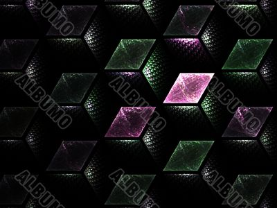Fractal Abstact Background - Layered cubes