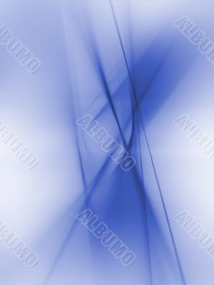 Fractal Abstract Background - Blue threads