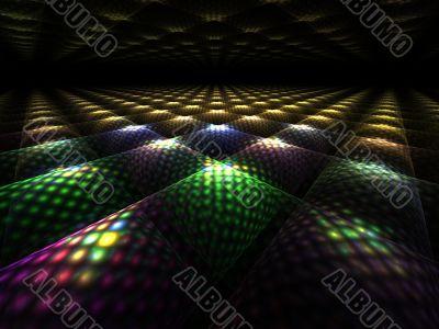 Fractal Abstact Background - 3d perspective tile design