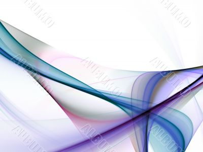 Fractal Abstract Background - Flowing colors