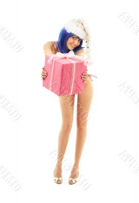 santa helper girl on high heels 2