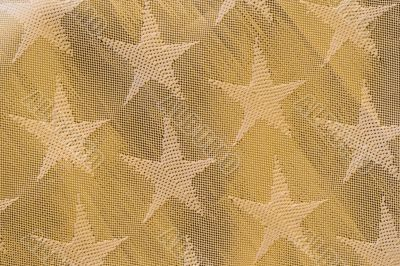 Pattern of a golden christmas tissue