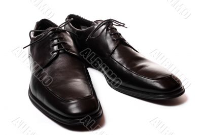 Black men shoes isolated on white