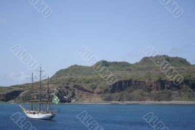 White Sail Ship