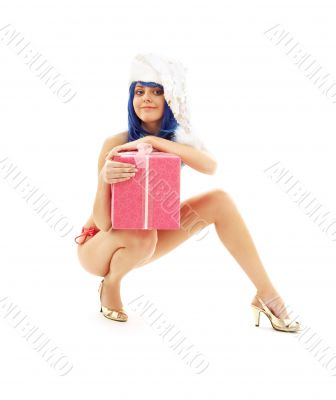 santa helper girl on high heels 3