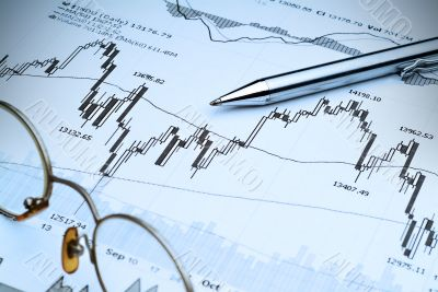 Stock Market Analysis-Blue tint